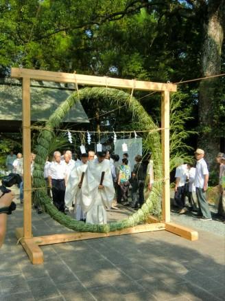 夏越大祓式、輪くぐり神事