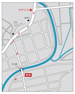 お田植祭地図